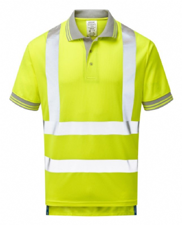 Pulsar P175 100% Polyester Bird Eye Knit Polo Shirt (High Vis Yellow)